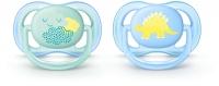 Akcija! Philips Avent Ultra Air DECO silikona māneklītis, 0-6 mēn., zēniem (2 gab.) SCF344/20