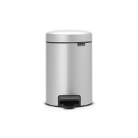 BRABANTIA atkritumu tvertne ar pedāli NewIcon, 3 l, Metallic Grey 113260