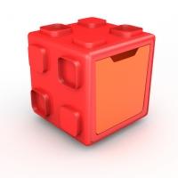Chillafish BOX multifunkcionāla rotaļu kaste, sarkana/oranža ar vāku CPBT01REO CPCB01REO-Promo
