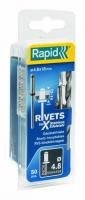 stainless steel rivets 4,8x18mm 50pcs + Drill C, Rapid