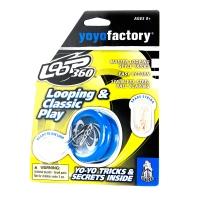 Akcija! YoYoFactory YO-YO LOOP 360 rotaļlieta iesācējiem ar iemaņām, zils YO 122