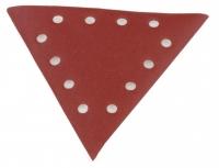 Trijstūra smilšpapīrs, grauds 180 - 10gab. DS 930, Scheppach