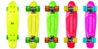 Akcija! No Rules Skateboard fun skrituļdēlis (zaļš, sarkans, dzeltens vai rozā) AU 294