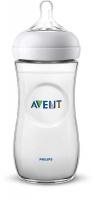 Jaunums! Philips Avent Natural zīdaiņu pudelīte 330 ml, lēnas plūsmas knupītis, 6 m+ SCF036/17