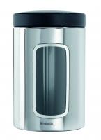 BRABANTIA kārba ar lodziņu, 1,4 l, Brilliant Steel 132803