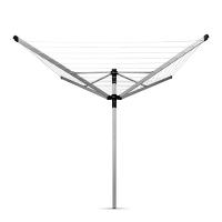 BRABANTIA rotējošs veļas žāvētājs, 50m, met.stipr+pārv+soma, Metallic Grey 100246