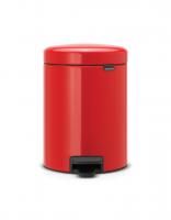 BRABANTIA atkritumu tvertne ar pedāli NewIcon, 5 l, Passion Red 112089