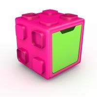 Chillafish BOX multifunkcionāla rotaļu kaste, rozā/zaļa ar vāku CPBT01PIL CPCB01PIL-Promo