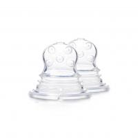 Akcija! Kidsme Food Squezeer patentēts silikona uzgalis ar krustveida caurumiem šķidrai pārtikai, 2 gab., no 4 mēn. 160365
