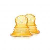 Akcija! Kidsme Food Squezeer patentēts silikona uzgalis ar lieliem caurumiem pusšķidrai pārtikai, 2 gab., no 4 mēn. 160364