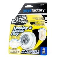 Akcija! YoYoFactory YO-YO LOOP 360 rotaļlieta iesācējiem ar iemaņām, balts YO 123