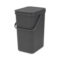 BRABANTIA atkritumu tvertne Sort & Go, 12 l, grey 109805