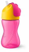 Philips Avent Krūzīte ar elastīgu salmiņu, 300 ml, 12M+, rozā SCF798/02