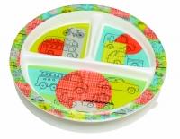 Izpārdošanas cena! Sugar Booger šķīvis ar iedaļām un noņemamu piesūcekņa pamatni Road Trip A964