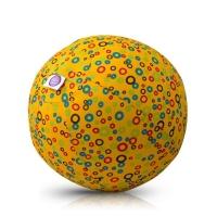 Akcija! Bubabloon lateksa balons ar auduma pārvalku, Circles Yellow 040369