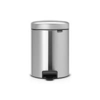 BRABANTIA atkritumu tvertne ar pedāli NewIcon, 5 l, Matt Steel 112645