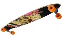 Akcija! No Rules Skull-flower Longboard  skrituļdēlis, ABEC 7 AU 248