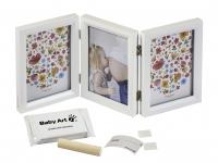 Baby Art Double Print Frame Carolin Style komplekts mazuļa pēdiņas/rociņas nospieduma izveidošanai 3601092500