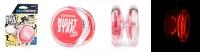YoYoFactory YO-YO NIGHTSTAR LED rotaļlieta iesācējiem, sarkans  (baterijas k-tā) YO 246