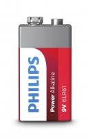 PHILIPS baterija krona Power Alkaline 9V 6LR61P1B/10