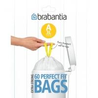 BRABANTIA atkritumu tvertņu maisiņi, 3 l, (A) (60 gab) 348983