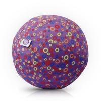 Akcija! Bubabloon lateksa balons ar auduma pārvalku, Circles Purple 040376