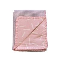 Izpārdošanas cena! Lodger Dreamer Honeycomb kokvilnas sedziņa, Blush, 75x100 DM 054