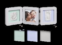 Baby Art Double Print Frame  komplekts mazuļa pēdiņu/rociņu nospieduma izveidošanai, pastel 34120140