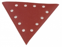 Trijstūra smilšpapīrs, grauds 240 - 10gab. DS 930, Scheppach