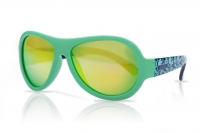 Akcija! SHADEZ Designer Leaf Print Green Junior bērnu saulesbrilles, 3-7 gadi SHZ 44