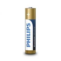 PHILIPS baterijas Premium Alkaline (iepakojumā 4 gab) LR03M4B/10