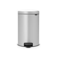 BRABANTIA atkritumu tvertne ar pedāli NewIcon, 20 l, Metallic Grey 114069