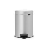 BRABANTIA atkritumu tvertne ar pedāli NewIcon, 5 l, Metallic Grey 112904
