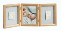 Baby Art Double Print Frame My baby Touch  komplekts mazuļa pēdiņu/rociņu nospieduma izveidošanai, honey 34120172