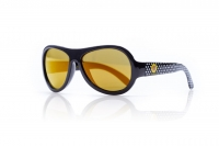 Akcija! SHADEZ Designer Polka Sunflower Black Junior bērnusaules brilles, 3-7 gadi SHZ 49