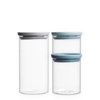 BRABANTIA stikla kārbu k-ts 3 gab (0.3 l, 0.6 l, 1.1 l) 298325