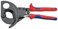 Kabeļu grieznes ar spēka mehānismu D52mm/380mm2 Cu + Al, DR, Knipex