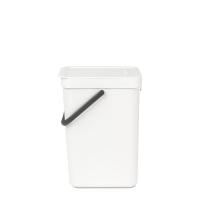 BRABANTIA atkritumu tvertne Sort & Go, 12 l, white 109782
