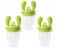 Kidsme Food Feeder bērna ēdināšanas ierīce cietiem produktiem (vidējs), Lime, no 4 mēn. 160350LI