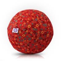 Akcija! Bubabloon lateksa balons ar auduma pārvalku, Circles Red 040352