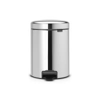 BRABANTIA atkritumu tvertne ar pedāli NewIcon, 5 l, Brilliant Steel 112621