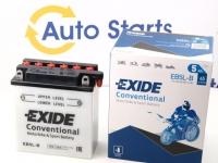 121 x 61 x 131, - +, Akumulators EXIDE BIKE 12V 5Ah 65A(EN