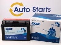 150 x 65 x 102, + -, Akumulators EXIDE BIKE AGM 12V 8Ah 115A(EN