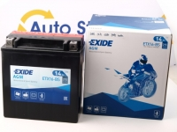 150 x 87 x 161, + -, Akumulators EXIDE BIKE AGM 12V 14Ah 215A(EN) YTX16-BS, K-81600