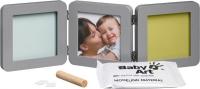 Baby Art Double Print Frame  komplekts mazuļa pēdiņu/rociņu nospieduma izveidošanai, grey 34120139