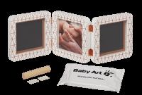 Baby Art Double Print Frame My baby Touch  Copper Edition komplekts mazuļa pēdiņu/rociņu nospieduma izveidošanai, white 3601092800