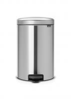 BRABANTIA atkritumu tvertne ar pedāli NewIcon, 20 l, Matt Steel 114021