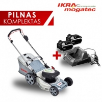 Akumulatora zāles pļāvējs 40V 5Ah IKRA Mogatec IAM 40-4325 - PILNS KOMPLEKTS