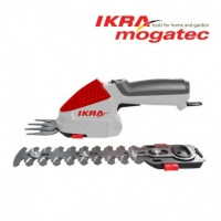 Dzīvžogu un zāles šķēru komplekts Ikra Mogatec IGBS 1054 LI, 7,2 V, 2,2 Ah akumulatora, 7,5/16 cm