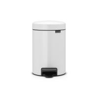 BRABANTIA atkritumu tvertne ar pedāli NewIcon, 3 l, White 112126